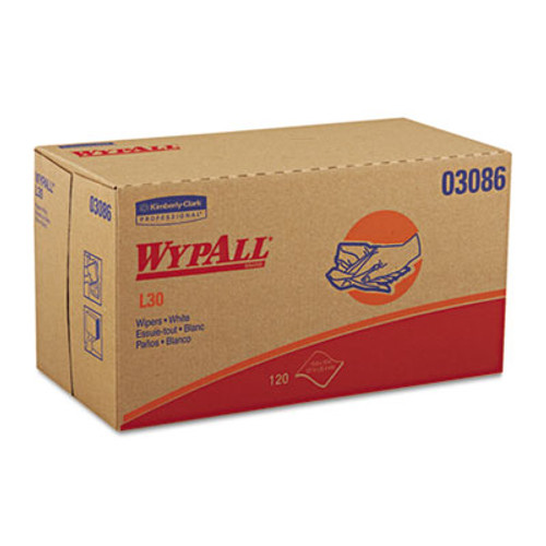 WypAll L30 Towels  POP-UP Box  10 x 9 4 5  White  120 Box  10 Boxes Carton (KCC 03086)