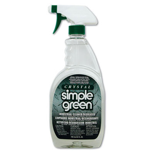 Simple Green Crystal Industrial Cleaner Degreaser  24 oz Bottle  12 Carton (SMP 19024)