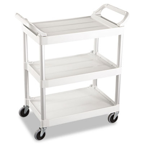 Rubbermaid Commercial Service Cart  200-lb Capacity  Three-Shelf  18 63w x 33 63d x 37 75h  Off-White (RCP 3424-88 OWH)