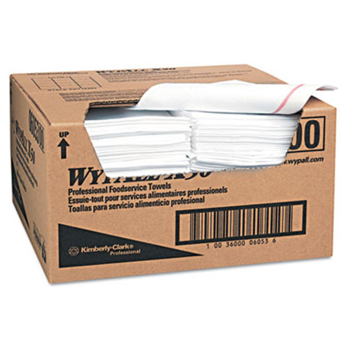 WypAll X50 Foodservice Towels  1 4 Fold  23 1 2 x 12 1 2  White  200 Carton (KCC 06053)