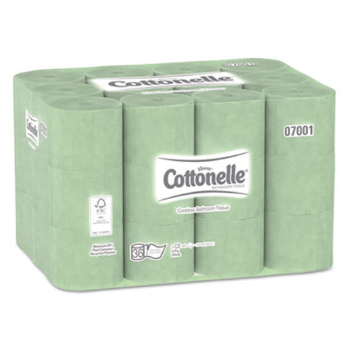Cottonelle Two-Ply Coreless Bathroom Tissue, 36 Rolls/Carton (KCC 07001)