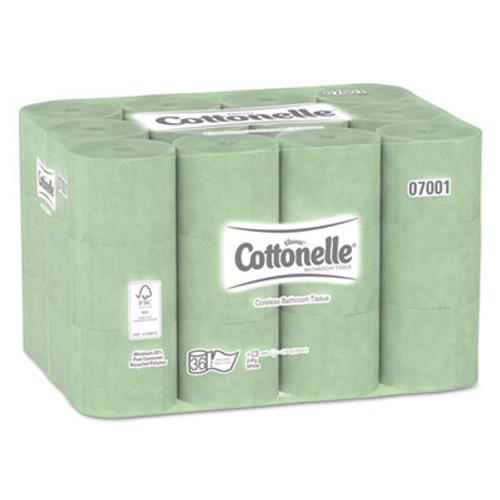 Scott Essential Extra Soft Coreless Standard Roll Bath Tissue  Septic Safe  2-Ply  White  800 Sheets Roll  36 Rolls Carton (KCC 07001)