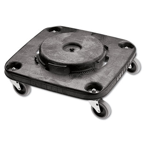 Rubbermaid Commercial Brute Container Square Dolly  250 lb Capacity  17 25 x 6 25  Black (RCP 3530)
