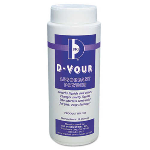 Big D Industries D-Vour Absorbent Powder  Canister  Lemon  16oz  6 Carton (BGD 166)