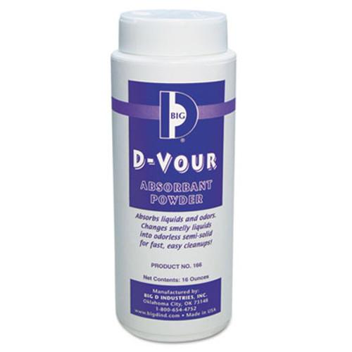 Big D Industries D-Vour Absorbent Powder  Canister  Lemon  16oz  6 Carton (BGD 166)