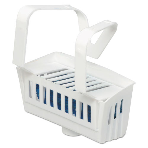 Big D Industries Non-Para Toilet Bowl Block  Lasts 30 Days  White  Evergreen Fragrance  12 Box (BGD 661)