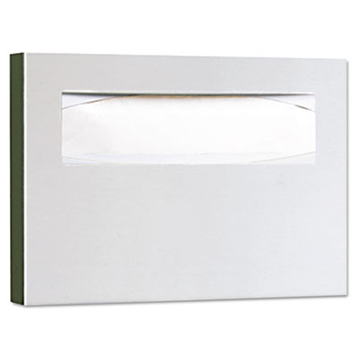 Bobrick Stainless Steel Toilet Seat Cover Dispenser  15 3 4 x 2 x 11  Satin Finish (BOB 221)