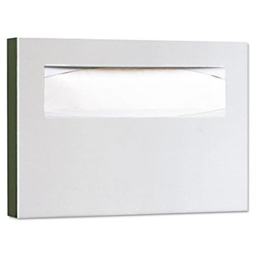 Bobrick Stainless Steel Toilet Seat Cover Dispenser  15 3 4 x 2 x 11  Satin Finish (BOB 221)
