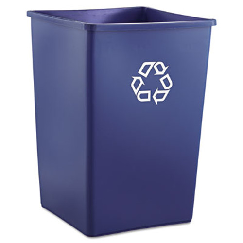 Rubbermaid Commercial Recycling Container  Square  Plastic  35 gal  Blue (RCP 3958-73 BLU)