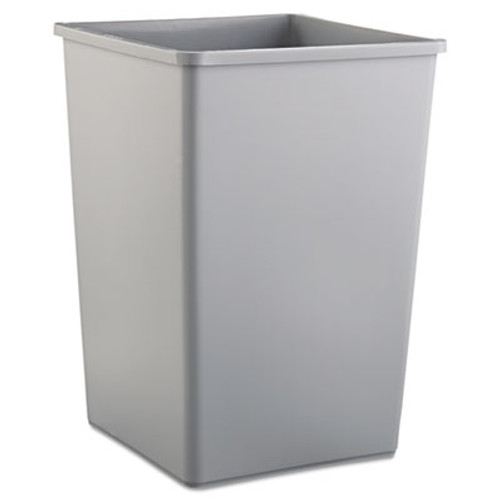 Rubbermaid Commercial Untouchable Square Waste Receptacle  Plastic  35 gal  Gray (RCP 3958 GRA)