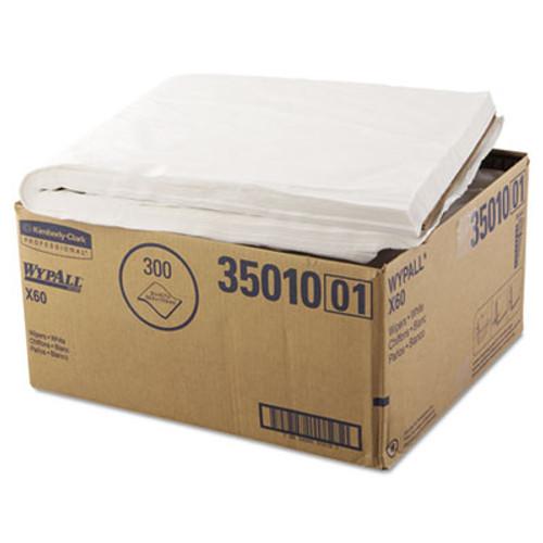 WypAll X60 Shower Towels  22 1 2 x 39  White  100 Box  3 Boxes Carton (KCC 35010)