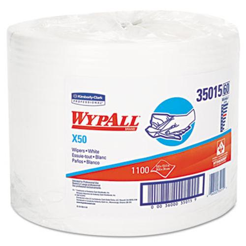 WypAll X50 Cloths  Jumbo Roll  9 4 5 x 13 2 5  White  1100 Roll (KCC 35015)