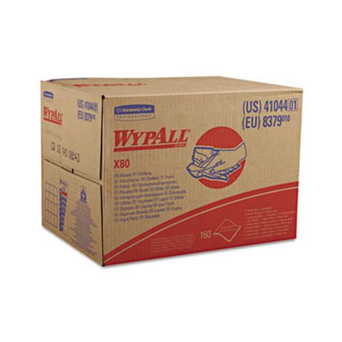 WypAll X80 Cloths  HYDROKNIT  BRAG Box  White  12 1 2 x 16 4 5  160 Box (KCC 41044)