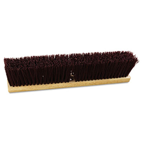 Boardwalk Floor Brush Head  18  Wide  Maroon  Heavy Duty  Polypropylene Bristles (BWK 20318)