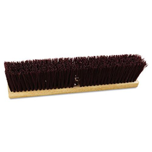 Boardwalk Floor Brush Head  18  Wide  Maroon  Heavy Duty  Polypropylene Bristles (BWK 20318)