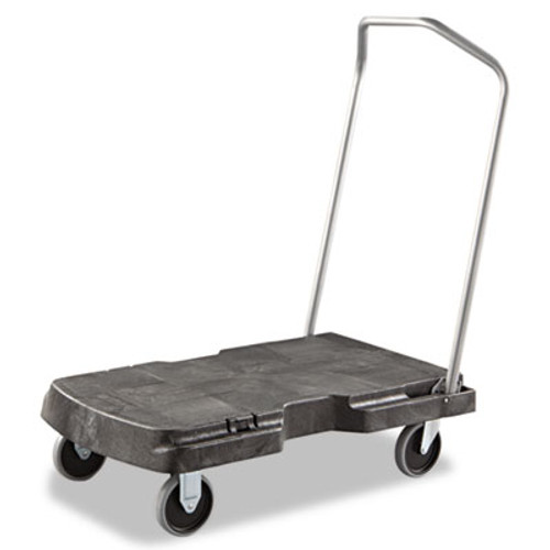 Rubbermaid Commercial Triple Trolley  500-lb Capacity  20 5w x 32 5d x 7h  Black (RCP 4401 BLA)