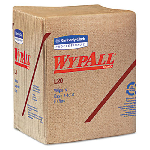 WypAll L20 Towels  1 4 Fold  2-Ply  12 1 2 x 12  Brown  68 Pack  12 Packs Carton (KCC 47000)