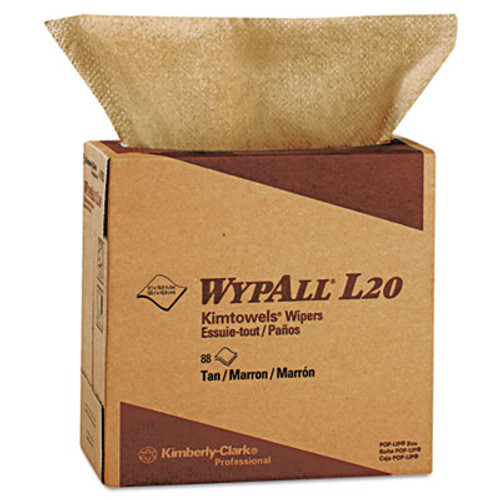 WypAll L20 Towels  POP-UP Box  2-Ply  9 1 10 x 16 4 5  Brown  88 Box  10 Boxes Carton (KCC 47033)