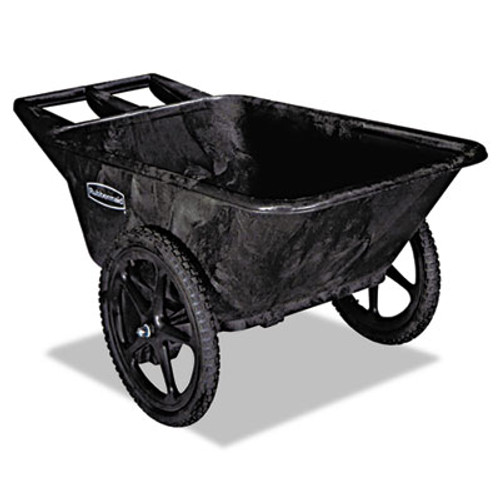 Rubbermaid Commercial Big Wheel Agriculture Cart, 300-lb Cap, 32-3/4 x 58 x 28-1/4, Black (RCP 5642 BLA)