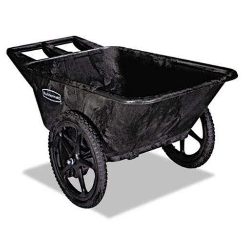 Rubbermaid Commercial Big Wheel Agriculture Cart  300-lb Capacity  32 75w x 58d x 28 25h  Black (RCP 5642 BLA)