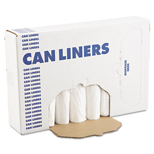 Boardwalk Low-Density Waste Can Liners  16 gal  0 4 mil  24  x 32   White  500 Carton (BWK 2432EXH)