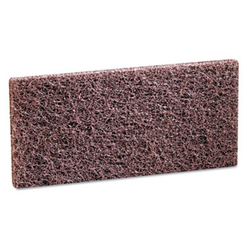 3M Doodlebug Scrub 'n Strip Pad  4 5 8 x 10  Brown  20 Carton (MCO 08004)