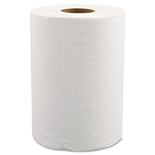 "Morcon Paper Hardwound Roll Towels, 8"" x 350ft, White, 12 Rolls/Carton (MOR W12350)"