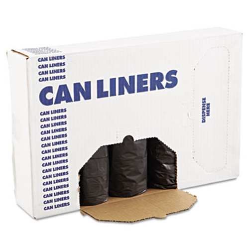 Boardwalk Low-Density Waste Can Liners  60 gal  0 65 mil  38  x 58   Black  100 Carton (BWK 3858H)