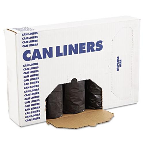 Boardwalk Low-Density Waste Can Liners  60 gal  0 65 mil  38  x 58   Black  100 Carton (BWK 3858H)