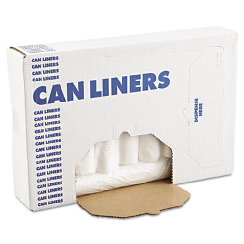 Boardwalk High-Density Can Liners  45 gal  10 microns  40  x 46   Natural  250 Carton (BWK 404612)