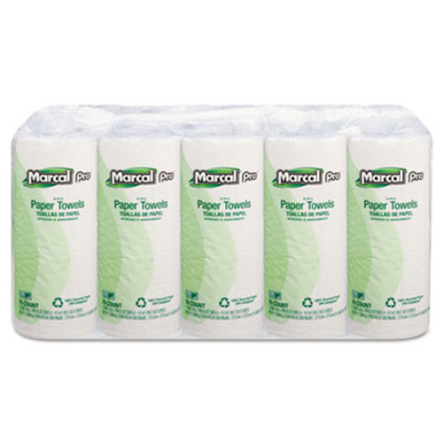 Marcal PRO 100  Premium Recycled Perforated Towels  11 x 9  White  70 Roll  15 Rolls Carton (MAC 610)