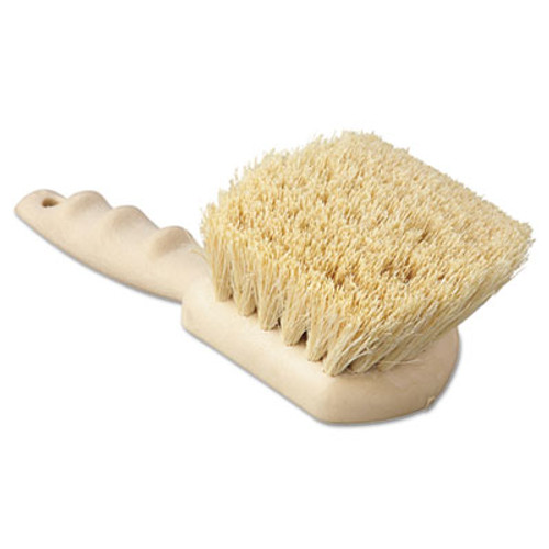 Boardwalk Utility Brush  Tampico Fill  8 1 2  Long  Tan Handle (BWK 4208)