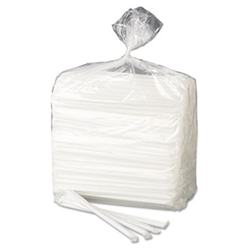 "Dixie Wrapped Flex Straws, 7 3/4"", Polypropylene, White, 10000/Carton (DIX FXW7)"