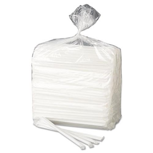 Dixie Wrapped Flex Straws  7 3 4   Polypropylene  White  10000 Carton (DIX FXW7)