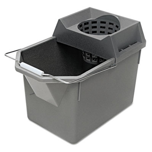 Rubbermaid Commercial Pail Strainer Combination  15qt  Steel Gray (RCP 6194 STL)