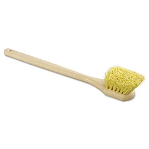Boardwalk Utility Brush  Polypropylene Fill  20  Long  Tan Handle (BWK 4320)