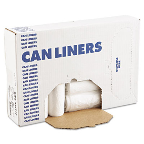 Boardwalk High-Density Can Liners  56 gal  14 microns  43  x 47   Natural  200 Carton (BWK 434717)