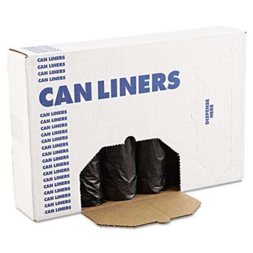 Boardwalk Low-Density Waste Can Liners  56 gal  0 6 mil  43  x 47   Black  100 Carton (BWK 4347H)