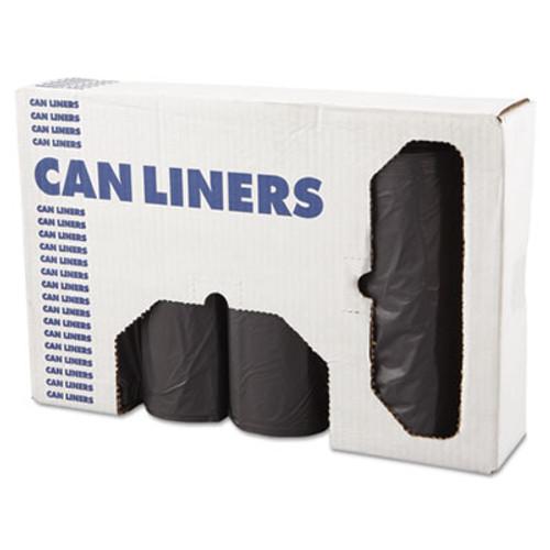 Boardwalk Low-Density Waste Can Liners  56 gal  1 1 mil  43  x 47   Gray  100 Carton (BWK 4347SEH)