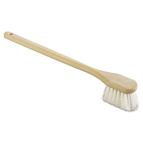 Boardwalk Utility Brush  Nylon Fill  20  Long  Tan Handle (BWK 4420)