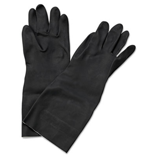 Boardwalk Neoprene Flock-Lined Gloves, Long-Sleeved, Large, Black, Dozen (BWK 543L)