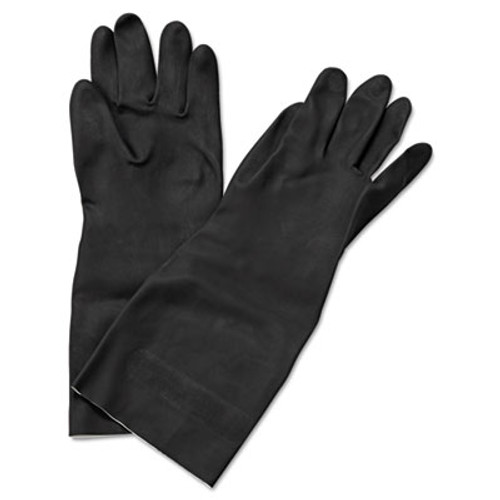 Boardwalk Neoprene Flock-Lined Gloves, Long-Sleeved, Medium, Black, Dozen (BWK 543M)
