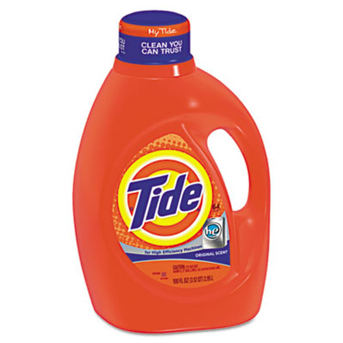 Tide HE Laundry Detergent, Original Scent, Liquid, 100oz Bottle, 4/Carton (PGC 08886)