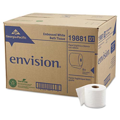 Georgia Pacific Professional Embossed Bathroom Tissue, 1-Ply, 80 Rolls/Carton (GPC 198-81/01)
