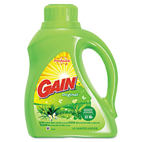 Gain Liquid Laundry Detergent  Original  50oz Bottle  6 Carton (PGC 12784)
