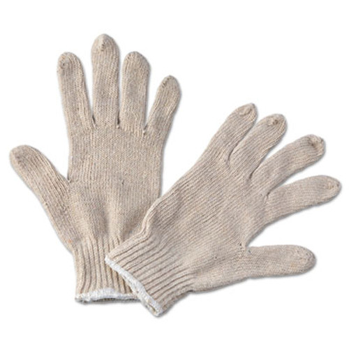 Boardwalk String Knit General Purpose Gloves  Large  Natural  12 Pairs (BWK 782)