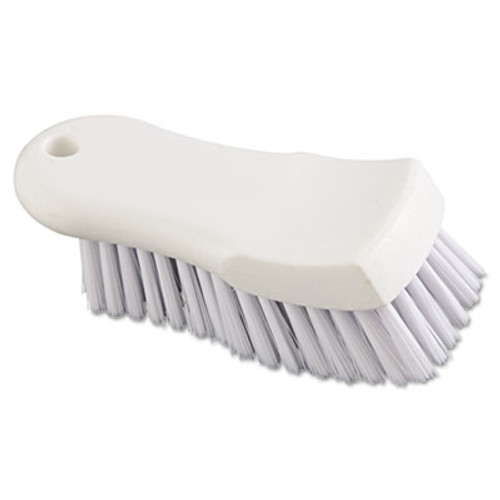 "Boardwalk Scrub Brush, White Polypropylene Fill, 6"" Long, White (BWK FSCBWH)"