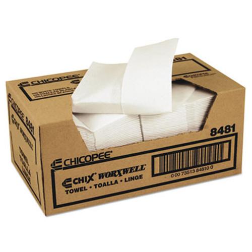 Chicopee Durawipe Shop Towels  13 x 15  Z Fold  White  100 Carton (CHI 8481)