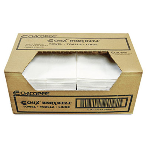 Chix Worxwell General Purpose Towels, 13 x 15, White, 100/Carton (CHI 8481)