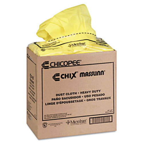 Chix Masslinn Dust Cloths  24 x 24  Yellow  150 Carton (CHI 8673)
